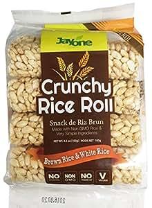 Amazon.com: Jayone Crunchy Rice Rolls, Brown/White, 3.5