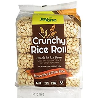 Jayone Crunchy Rice Rolls, Brown/White Rice, 3.5 Ounce (Pack of 6)