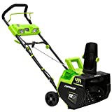 "Earthwise SN74018 Snow Thrower, 18"" Cordless-500 lbs./Minute"