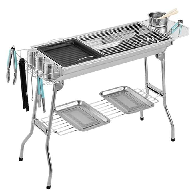 QMKJ Parrilla Plegable portátil Carbon BBQ Grill al Aire ...