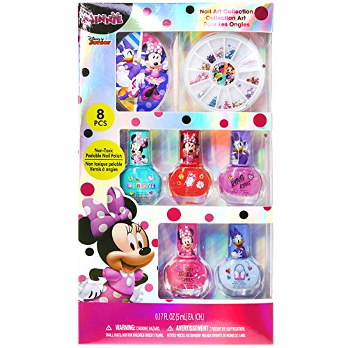 TownleyGirl Disney Minnie Mouse Nail Art Set with nail polish, nail gems, toe separators and file for $<!--$18.99-->