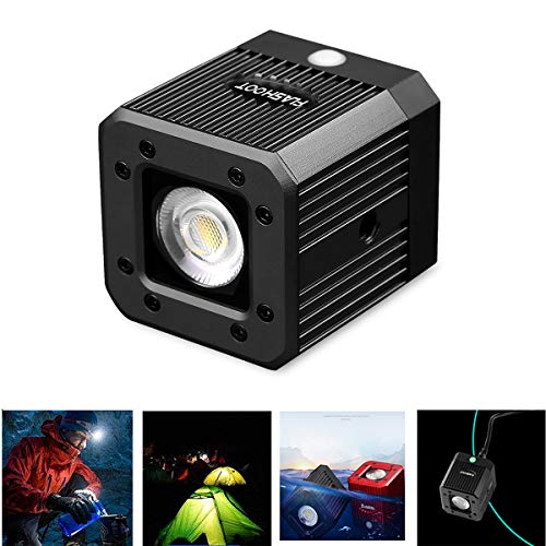 "Dazzne Mini Cube LED Video Light with 1/4"" 20 Screw Hole Underwater Lights for Drone, DSLR, Smartphone, Camcorder and Action Cameras- Waterproof 20M from Dazzne"
