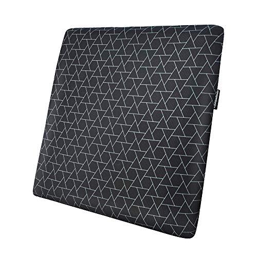 AmazonBasics - Cojin viscoelastico para asiento, con triangulos, cuadrado