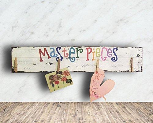 Display Kids Art Work Display Sign - Master Pieces Pallet Si