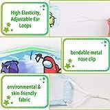 Washable Reusable Face Mask, Cloth Cotton Cute