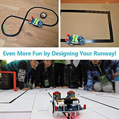 School Competition Tracking Kit Soldering Project Education Kids Smart Toy Car