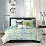 Madison Park Sonali 6 Piece Quilted Coverlet Set, Full/Queen, Blue