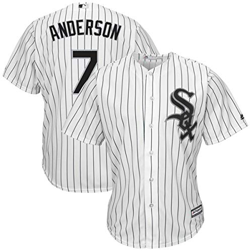 Men's Chicago White Sox #7 Tim Anderson Home White Cool Base Player Jersey
