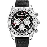 Breitling Chronomat GMT 47mm Men's Watch w/Diver Pro III Black Rubber Strap AB0413B9/BD17-154S