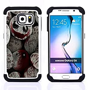 """Pulsar ( De Halloween Monster Blood Spooky Pumpkin"""" ) Samsung Galaxy S6 / SM-G920 SM-G920 híbrida Heavy Duty Impact pesado deber de protección a los choques caso Carcasa de parachoques"""