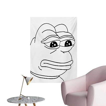 Amazoncom Anzhutwelve Humor Wall Paper Melancholic Frog Meme