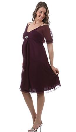 Belly Envy Women\'s Plus Size Maternity Sugar Plum Dress (3X, Plum ...