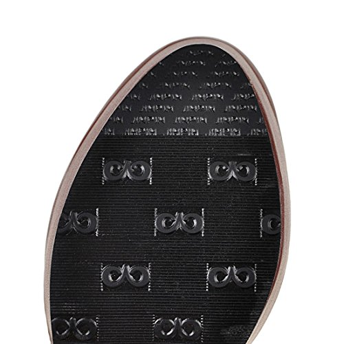 YE Damen Ankle Boots High Heels Plateau Gefütterte Stiefeletten mit Schnürung und Blockabsatz Retro Schuhe Schwarz
