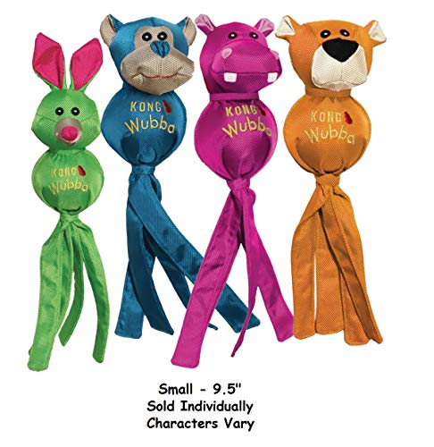 - MPP Ballistic Friend Wubba Dog Toy Bright Tennis Ball Tail Characters Vary Pick Size (Small - 9.5