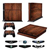 Cheap Skins for PS4 Controller – Decals for Playstation 4 Games – Stickers Cover for PS4 Console Sony Playstation Four Accessories PS4 Faceplate with Dualshock 4 Two Controllers Skin – Wooden