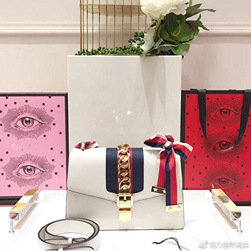 (Sylvie Cross-body Bag for Womens Handbag Designer Fashion Single Shoulder Messager Bags -white)