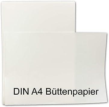 Bütten Briefpapier A4 50 Blatt Büttenpapier mit Wasserzeichen