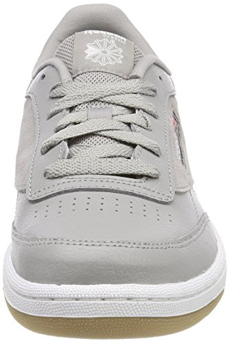 Reebok Unisex-Kinder Club C 85 Estl Sneaker Grau (Powder Grey/white/washed Blue)