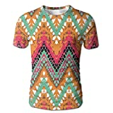 Edgar John Hand Paint Ethnic Zigzag Ethnic with African Effects...
