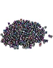 Sonew 500 unids Cuentas para la Fabricación de Joyas Mezclado Cubo del Alfabeto Granos de la Letra DIY Crafting Collar Pulsera Accesorios