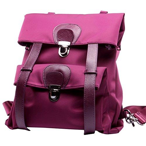Heshe Vintage Womens Backpacks Canvas Waterproof Casual Daypack Rucksack Outdoor Bags (Violet)