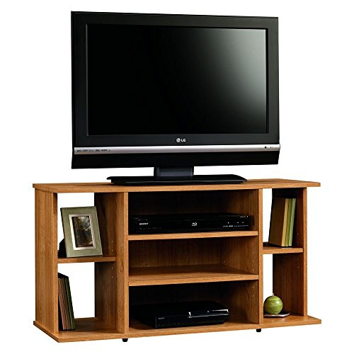 Oak Finish Game - Sauder Beginnings TV Stand, Highland Oak