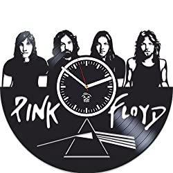 Kovides Pink Floyd, Rock Band Music, Vinyl Record Best Gift for Dad Mom Boyfriend Girlfriend Boy Girl Vinyl Wall Clock Home Decoration Room Inspirational, Silent Mechanism, Another Brick in The Wall