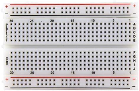 amazon com bb400 solderless plug in breadboard, 400 tie points, 4amazon com bb400 solderless plug in breadboard, 400 tie points, 4 power rails, 3 3 x 2 2 x 0 3in (84 x 55 x 9mm) toys \u0026 games