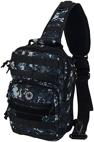 Nexpak USA TL312 Tactical Gear Molle Hydration Ready Outdoor Sling Shoulder Strap Bag Carabiner