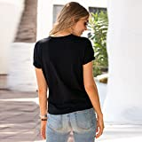 wodceeke Women Solid Short Sleeve Tees Cut Out Open