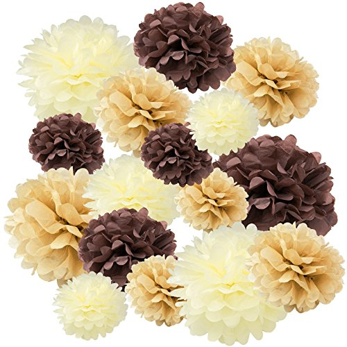 (Floral Reef Variety Set of 16 (Assorted Soft Brown Color Pack) consisting of 8