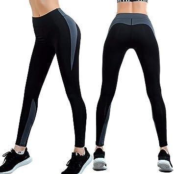 XXPF Ropa de Yoga Pantalones de Bolsillo para Mujer Deportes ...