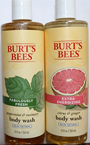 Burts Bees  Peppermint And Rosemary   Citrus And Ginger Body Wash 12Oz Bundle  2 Total