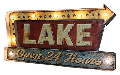 Rivers-Edge-Products-Rivers-Edge-2220-Lake-LED-Metal-bar-Sign