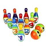 Bowling Set Toy 10 Colorful Soft Foam Bowling