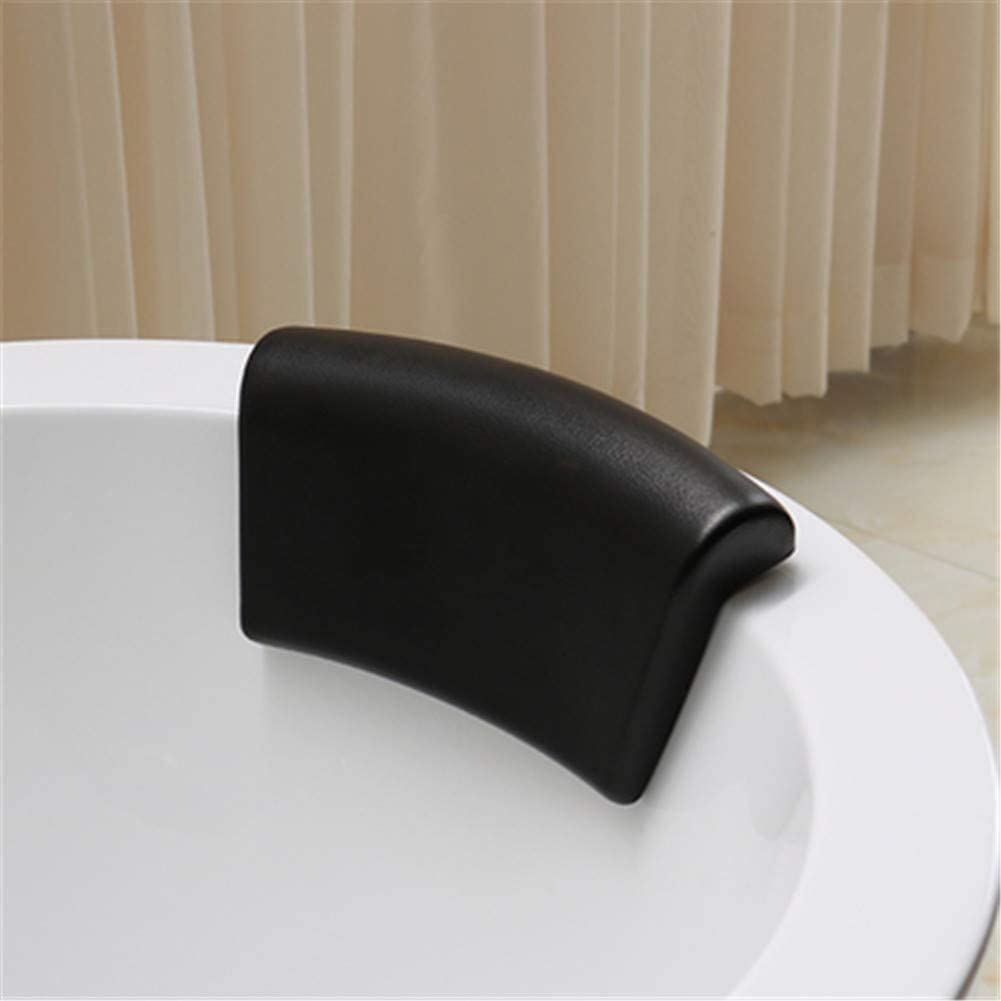 JinSu PU Cuscino da Bagno Impermeabile Supporto per Collo e Testa con Ventose Antiscivolo 305 * 160mm Poggiatesta per la Casa Spa Vasca da Bagno Cuscino