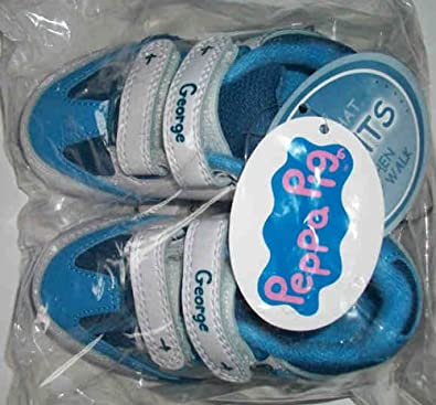 808cc8c90ba Size 9 Peppa Pig Boys George Light Light Up George Knight Trainers   Amazon.co.uk  Shoes   Bags