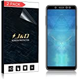J&D [2-Pack Galaxy A8 2018 Screen Protector (Not Glass), Soft Skin [No Lifted Edges] [Bubble Free] HD Clear Screen Protector for Samsung Galaxy A8 2018 - [Not for Galaxy A8 Plus 2018]