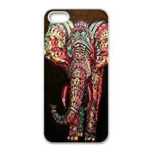 Custom Colorful Case for Iphone 5,5S, Colored Elephant Cover Case - HL-697891