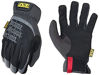 Mechanix Wear MFF-05-010 Slip-On Elastic-Cuff Mechanic's Glove Fast Fit Gloves, L