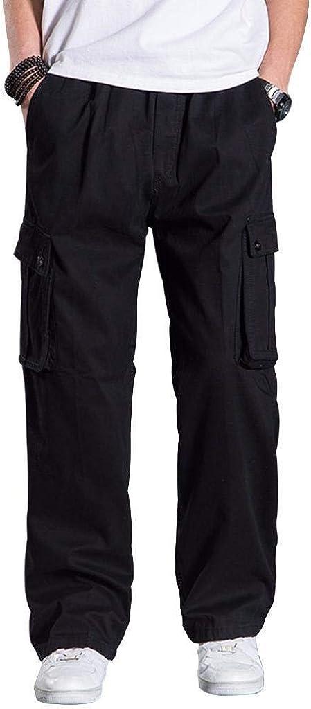 Men/'s Pants Thermal Fleece Lined Elasticated Work Cargo Combat Winter Trousers X