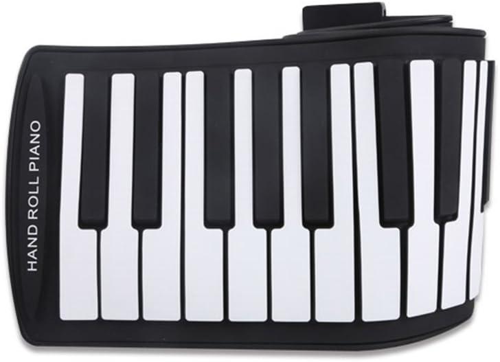 TOOGOO Portatil Piano enrollable flexible USB de 61 teclas MIDI Piano Teclado electronico Rodillo manual