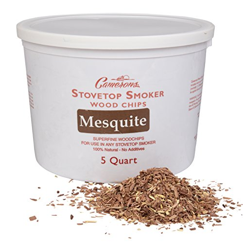 Smoking Chips - (Mesquite) Kiln Dried, Natural Extra Fine Wood Smoker Shavings - 5 Quart Barbecue Chips