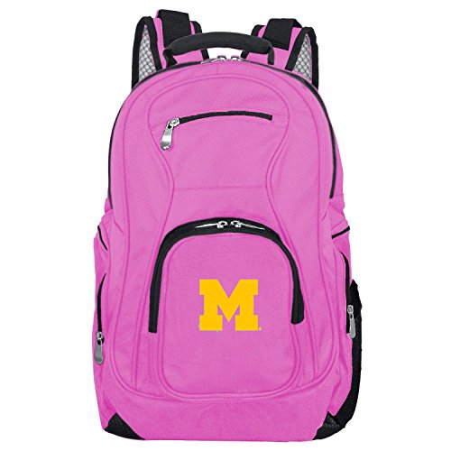 NCAA Michigan Wolverines Voyager Laptop Backpack, 19-inches, Pink