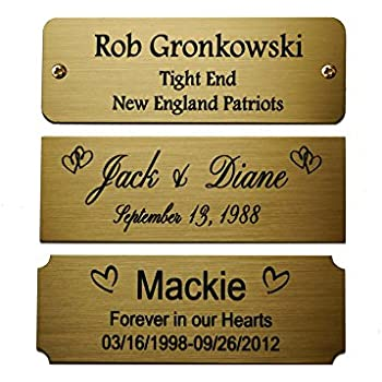 Amazon Com Size 3 Quot W X 1 Quot H Personalized Custom