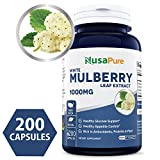 Best White Mulberry Leaf Extract 1000mg 200 capsules