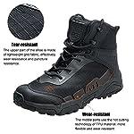 FREE SOLDIER pour Homme Mid Haute durabilité Lacets Bottes Durable Imperméable Armée Combat Chaussures Respirant… 10