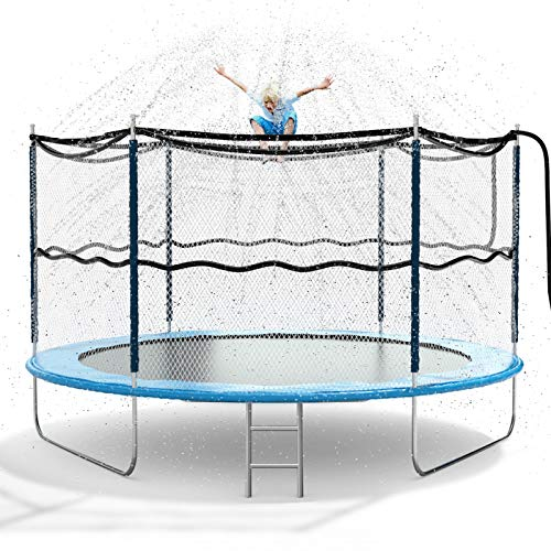 Jasonwell Trampoline Sprinkler for Kids Outdoor Trampoline Sprinkler Waterpark Fun Summer Outdoor Water Games Yard Toys Sprinklers Backyard Water Park for Boys Girls 39 ft