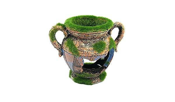 VIDOO Yani Creaciones Acuáticas Ambientes Exóticos Jarrón Egipcio Florero Acuario Ornamento Pecera Decoración: Amazon.es: Hogar