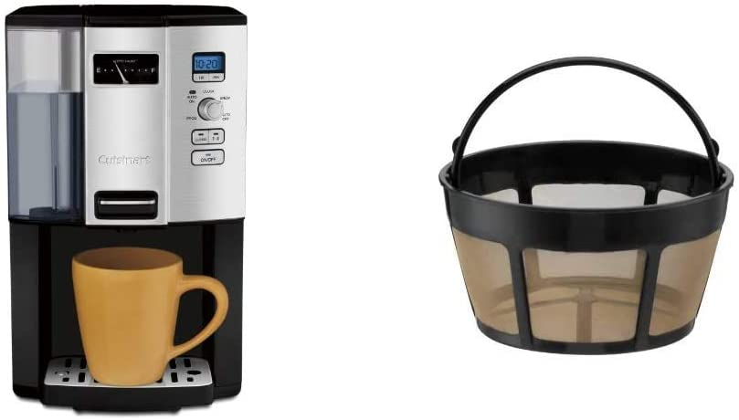 Cuisinart DCC-3000P1 12-Cup Programmable Coffee Maker Coffeemaker, Black & GTF-B Gold Tone Coffee Filter